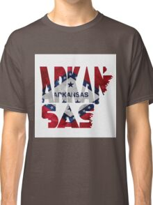 Arkansas Typographic Map Flag Classic T-Shirt
