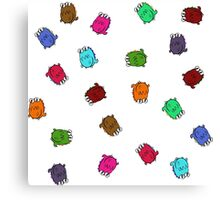 Rolling Silly Dinosaurs Canvas Print