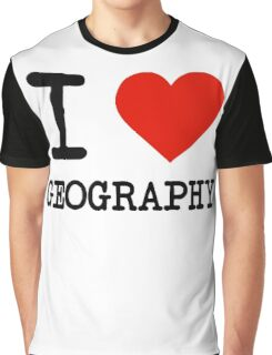 I Love Geography Graphic T-Shirt