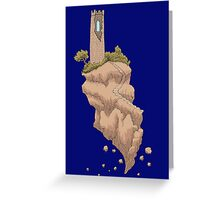 Floating Tower Island Begin Again Greeting Card