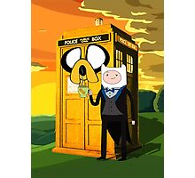 Cartoon Character of Police Public Call Box Photographic Print
