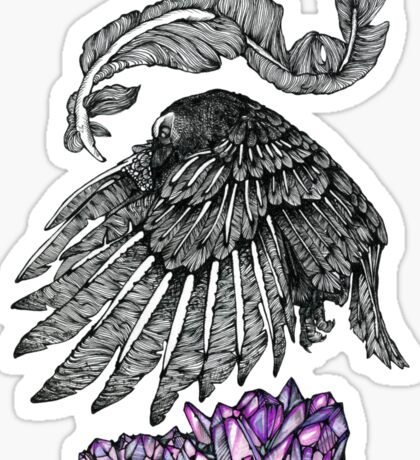 The Crow And The Crystals Sticker