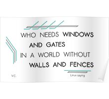 Who needs windows and gates Poster