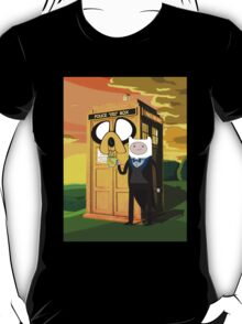 Cartoon Character of Police Public Call Box T-Shirt