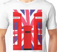 LONDON TELEPHONE BOX and POST BOX Unisex T-Shirt