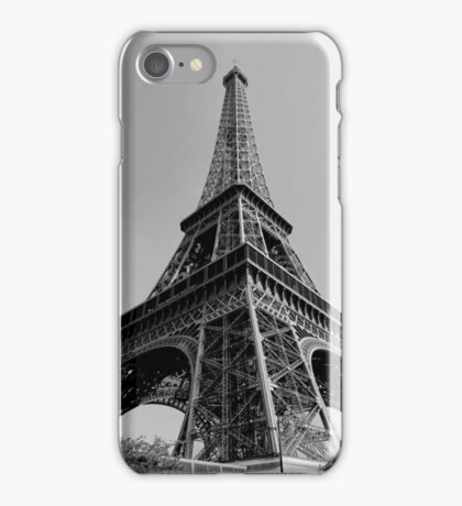 Eiffel Tower - Black and White  iPhone Case/Skin