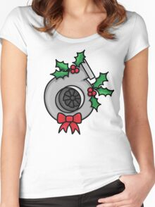 not your typical wreath Women's Fitted Scoop T-Shirt