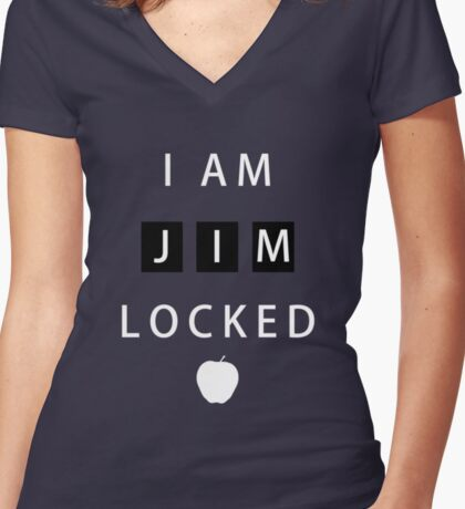 I am JIMLOCKED Women's Fitted V-Neck T-Shirt