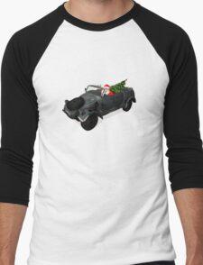 Santa Claus In Kübelwagen Men's Baseball ¾ T-Shirt