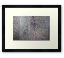 Grunge metal texture Framed Print