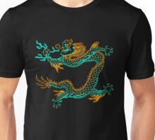 Chinese Dragon (orange/aqua) Unisex T-Shirt