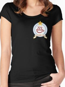 K-ON! - Hōkago Tea Time Name Badge (Mio) Women's Fitted Scoop T-Shirt