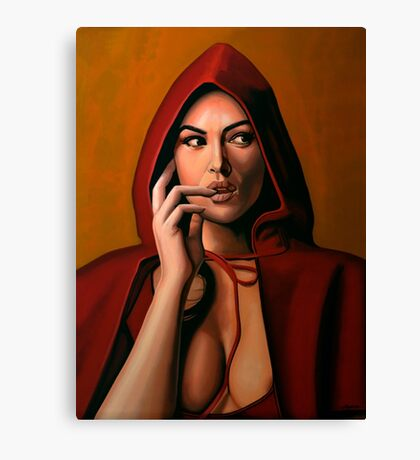 Monica Bellucci Painting Canvas Print