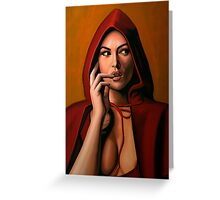 Monica Bellucci Painting Greeting Card