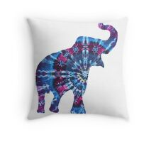 Tie Dye Elephant Throw Pillow