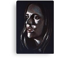 Eliza, featured in Vavoom, Art Universe, Art &Photography, Back in Black Canvas Print
