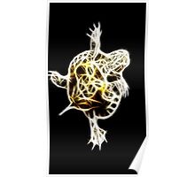 A glowing Baby turtle Poster