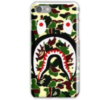 shark bape camo tee iPhone Case/Skin