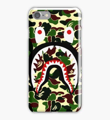 shark bape camo tee iPhone Case/Skin