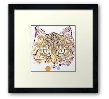 Kitty in Dots Framed Print