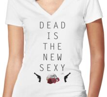 Dead is the new sexy JM Women's Fitted V-Neck T-Shirt