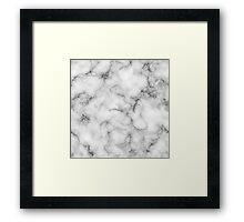 Black & White Marble Print Design! Framed Print