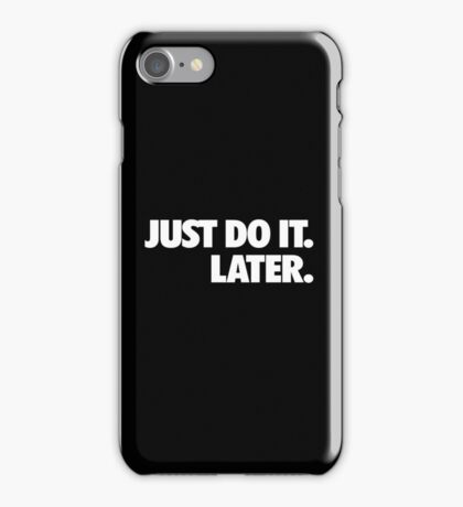 Just do it Nike iPhone Case/Skin
