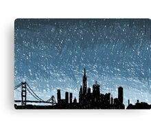 SF Scribble Canvas Print