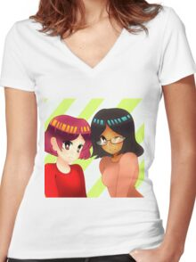 commision Women's Fitted V-Neck T-Shirt
