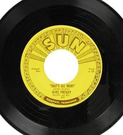 Elvis 45 RPM Record THAT's ALL RIGHT Sticker