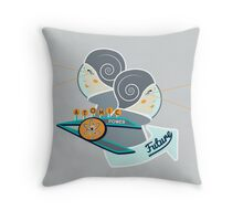 FUTURE VISION SCIFI GRAPHIC Throw Pillow