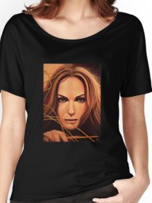 Natalie Portman Painting Women's Relaxed Fit T-Shirt