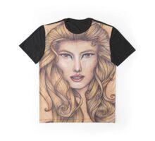 Leo ♌ Astrological Fantasy Portrait Graphic T-Shirt