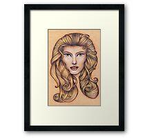 Leo ♌ Astrological Fantasy Portrait Framed Print