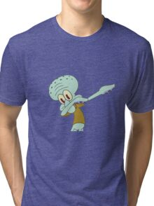 Squidward Dab'en on em Tri-blend T-Shirt