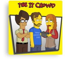 The IT Crowd - Simpsons Style! Canvas Print