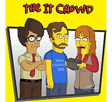 The IT Crowd - Simpsons Style! Photographic Print