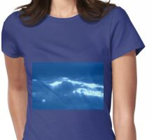 CIRCULAR CLOUD WITH RAYS Womens Fitted T-Shirt