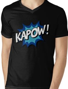 Kapow! Comic Mens V-Neck T-Shirt