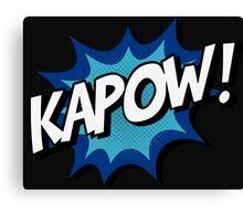 Kapow! Comic Canvas Print