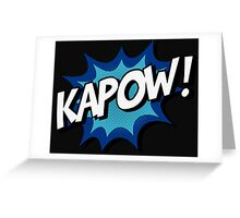 Kapow! Comic Greeting Card