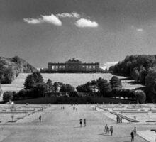 Great Parterre, Gardens of Schönbrunn, Vienna Sticker
