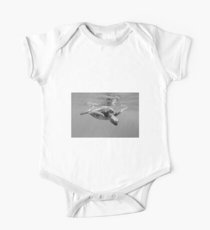 Black and White Turtle One Piece - Short Sleeve