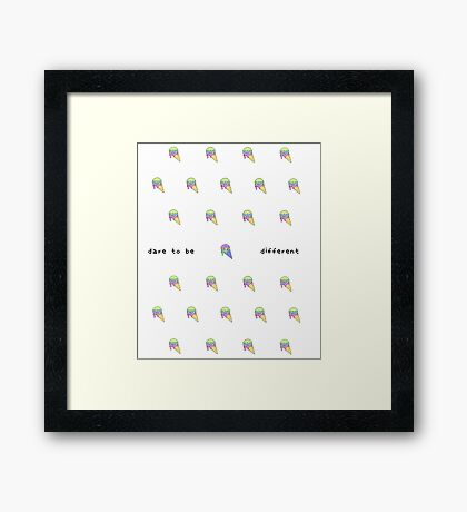 CSD Inspire Series - Dare to be Different Framed Print