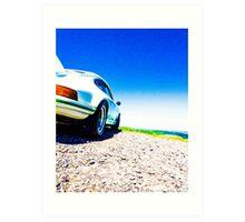 Porsche on the Gravel Art Print