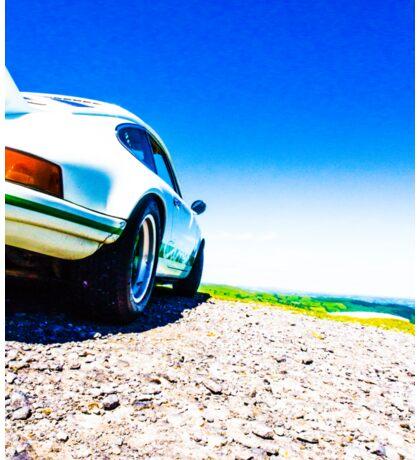 Porsche on the Gravel Sticker