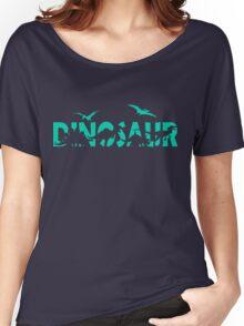 Dinosaur aqua Women's Relaxed Fit T-Shirt