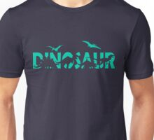 Dinosaur aqua Unisex T-Shirt