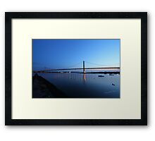 The Forth Road Bridge from North Queensferry Framed Print