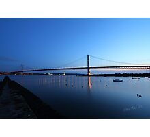 The Forth Road Bridge from North Queensferry Photographic Print